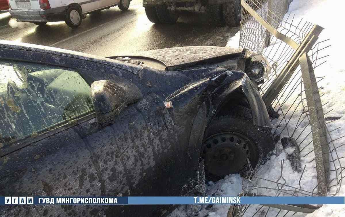 Авария МАЗа и Opel