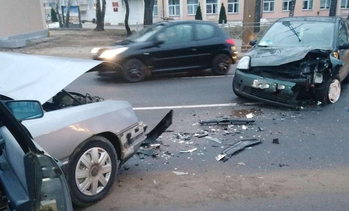 лобовое столкновение в Гродно