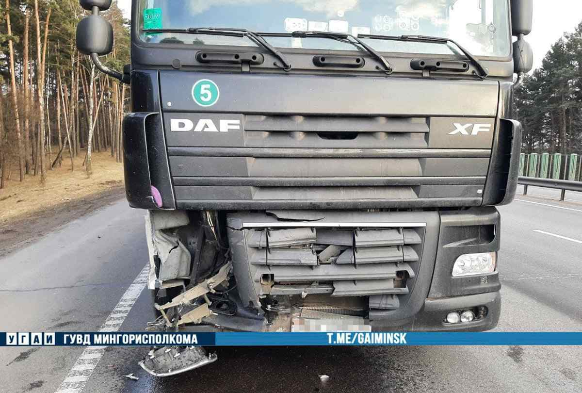 DAF столкнулся с Mercedes