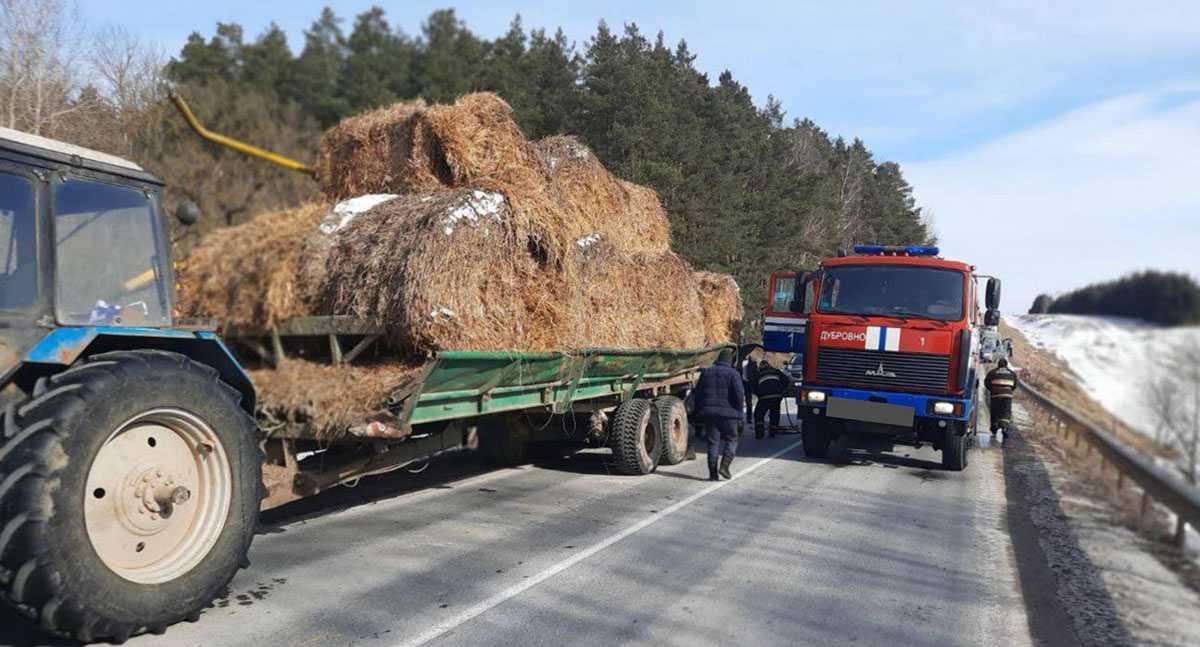 ДТП с тракором в Витебской области