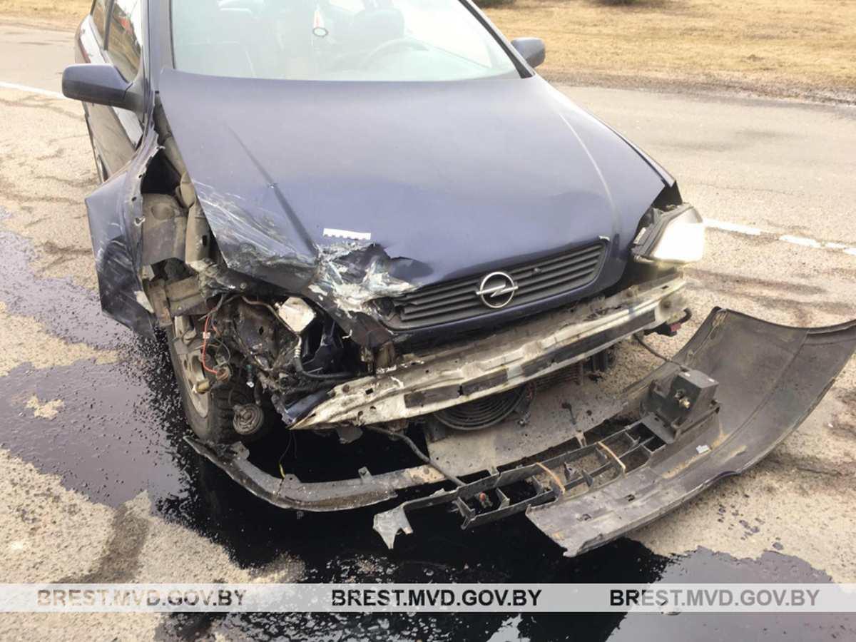 столкновение Opel с DAF