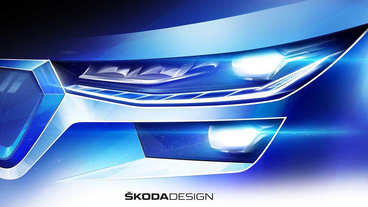 Skoda показала первые изображения обновленного Kodiaq