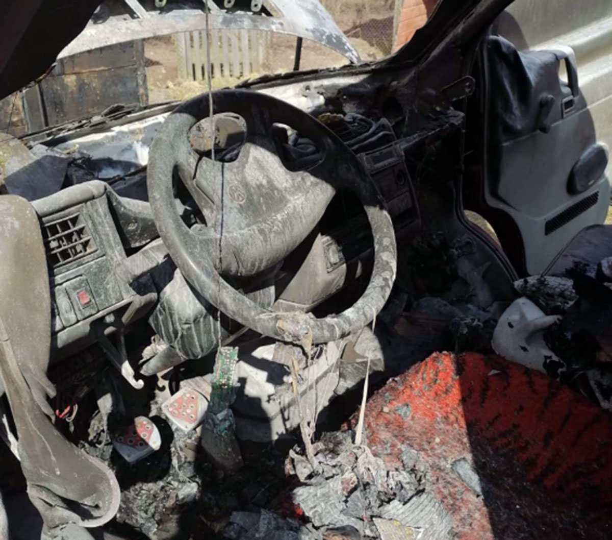 поджег автомобиля в Кобринском районе