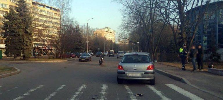 ДТП с мотоциклом на Пулихова