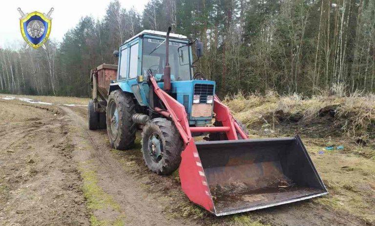 наезд трактора на человека