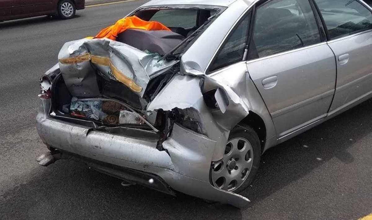 МАЗ врезался в Audi