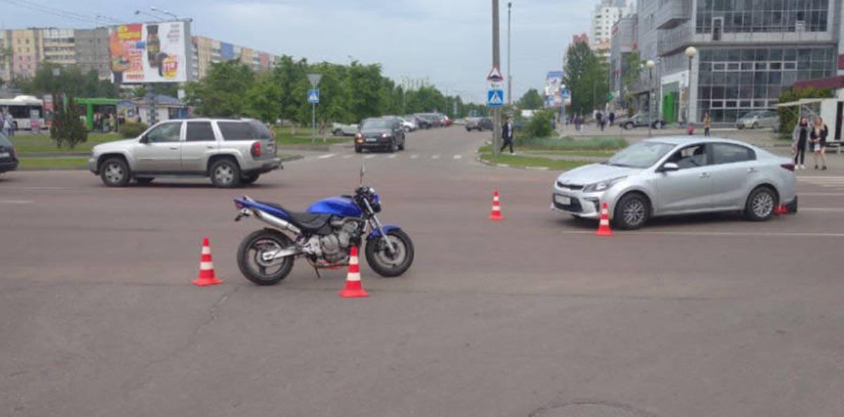 ДТП в Гомеле с мотоциклом
