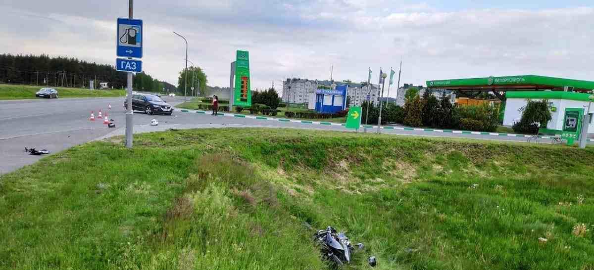 ДТП с мотоциклистом в Волковыске