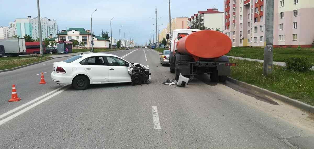 ДТП с грузовиком в Гродно