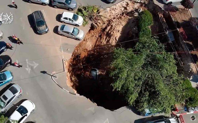провалилась парковка в Иерусалиме