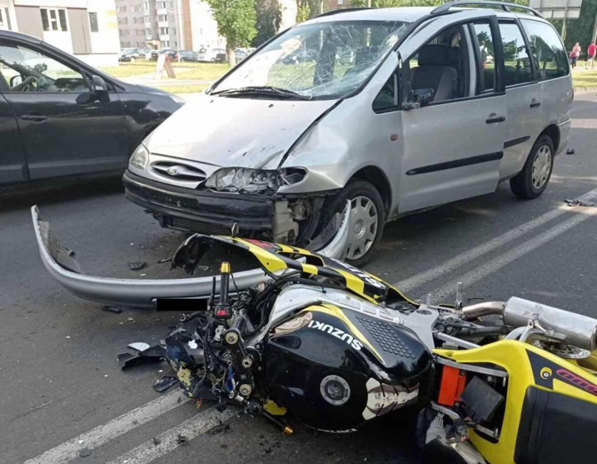 ДТП с мотоциклистом в Пинске