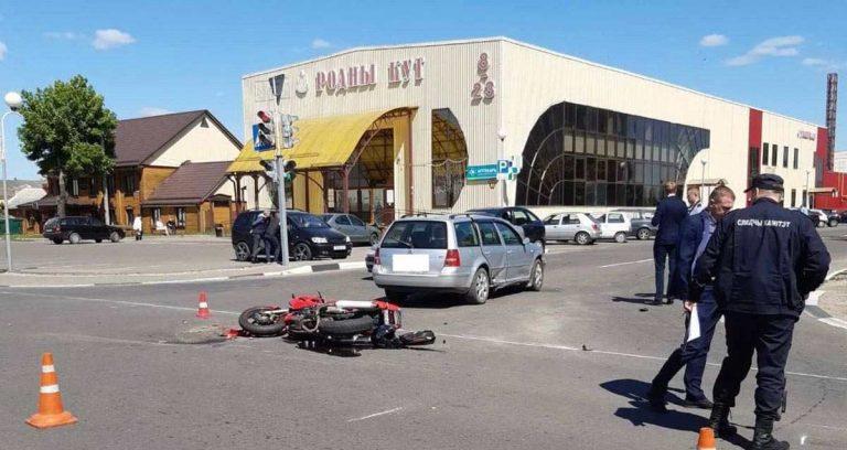 ДТП с мотоциклистом в Любани