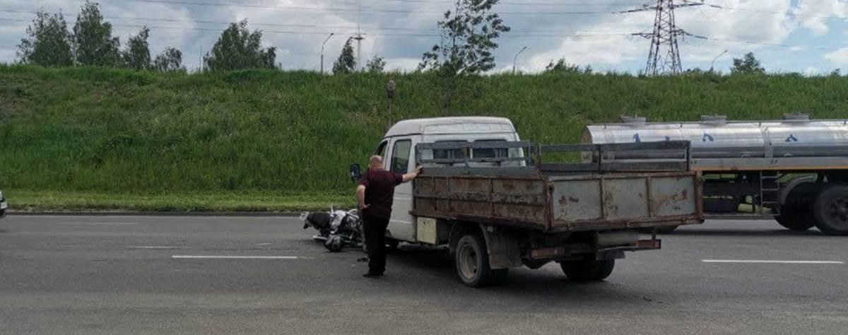 ДТП с мотоциклистом на Бабушкина