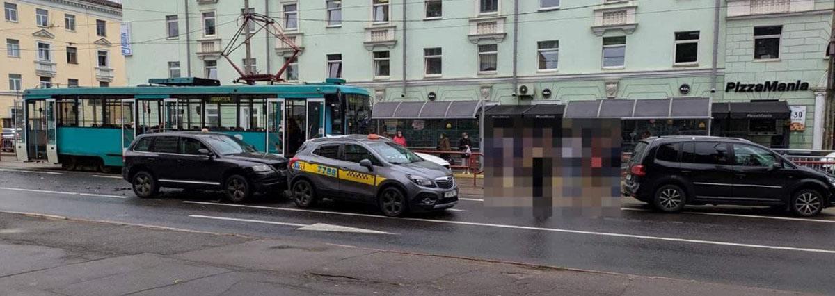 ДТП с трамваем в Минске