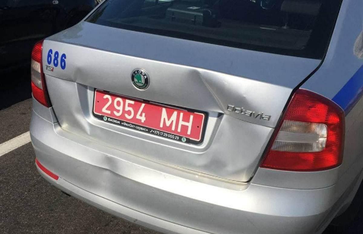 ДТП с автомобилем ГАИ