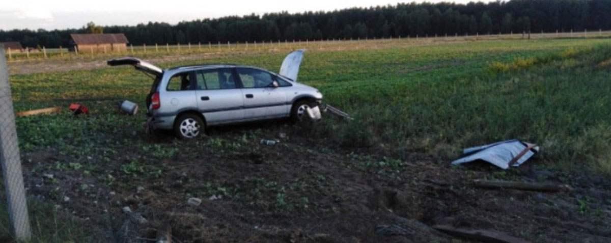 В Лунинецком районе опрокинулся Opel