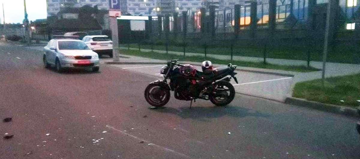 ДТП с мотоциклистом на Мястровской
