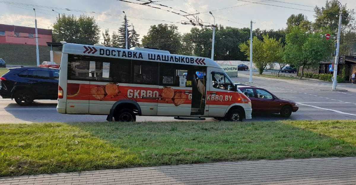 ДТП с маршруткой в Минске