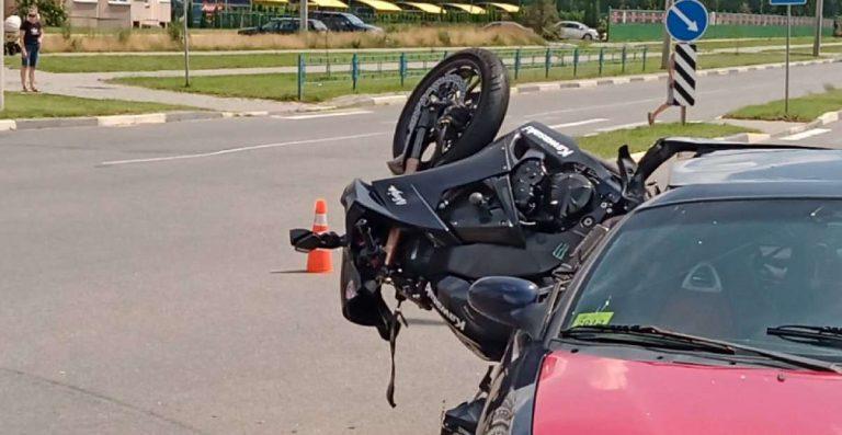 смертельное ДТП с мотоциклистом в Солигорске