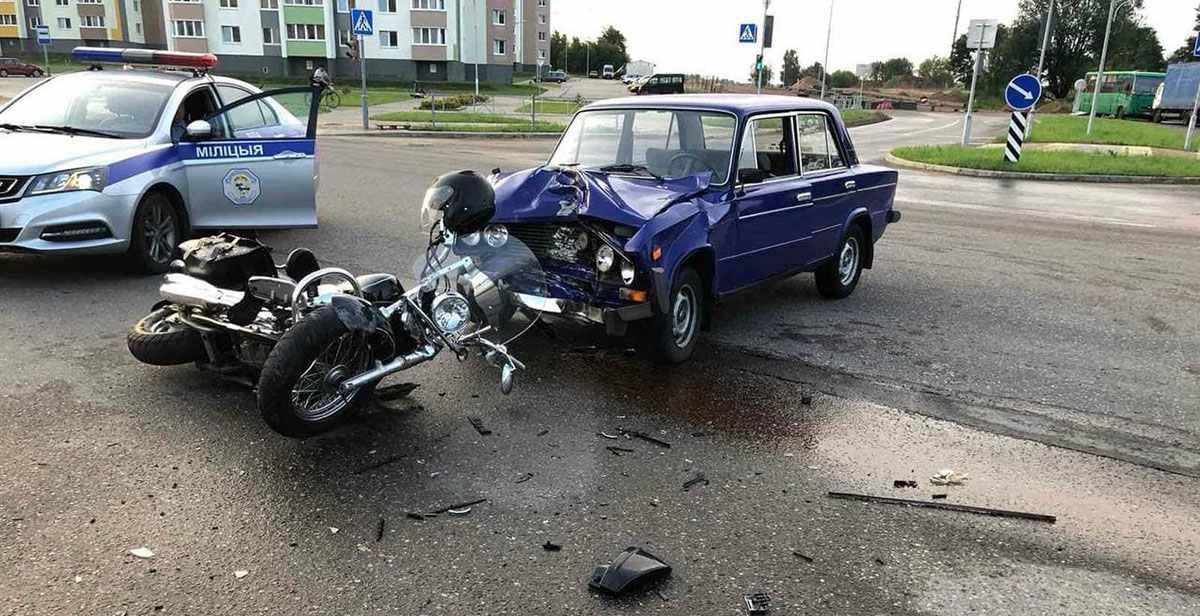 ДТП с мотоциклом в Лиде