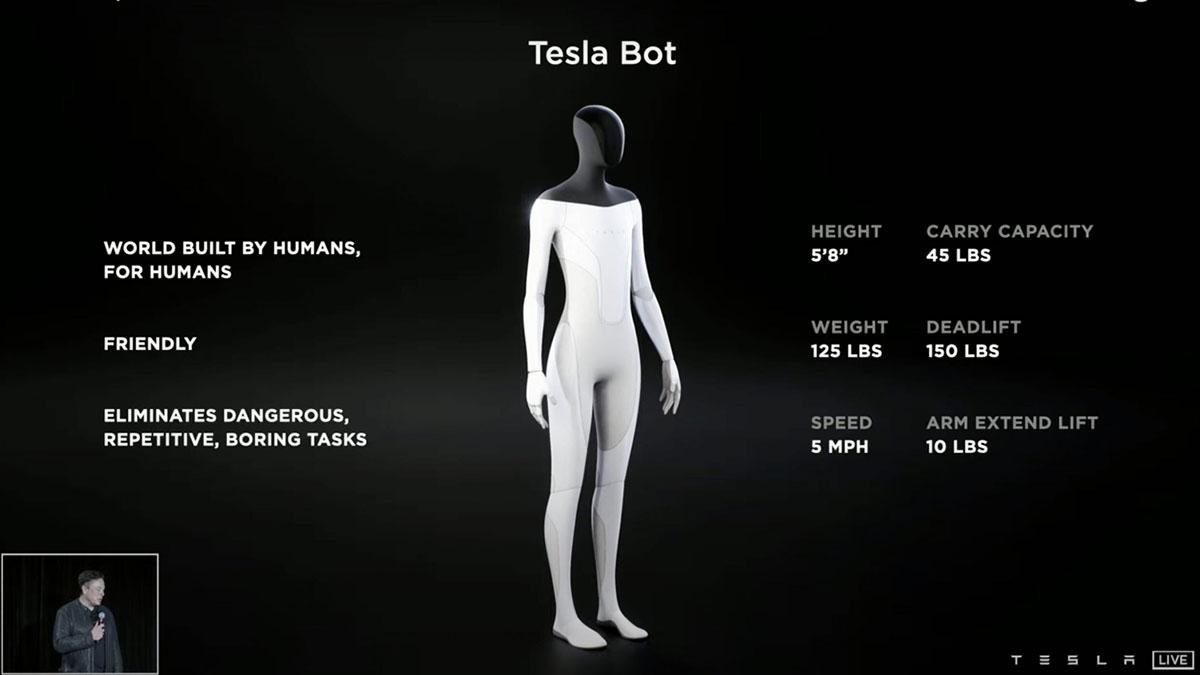 робот Tesla
