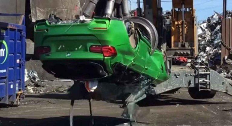 Полиция уничтожила BMW M3