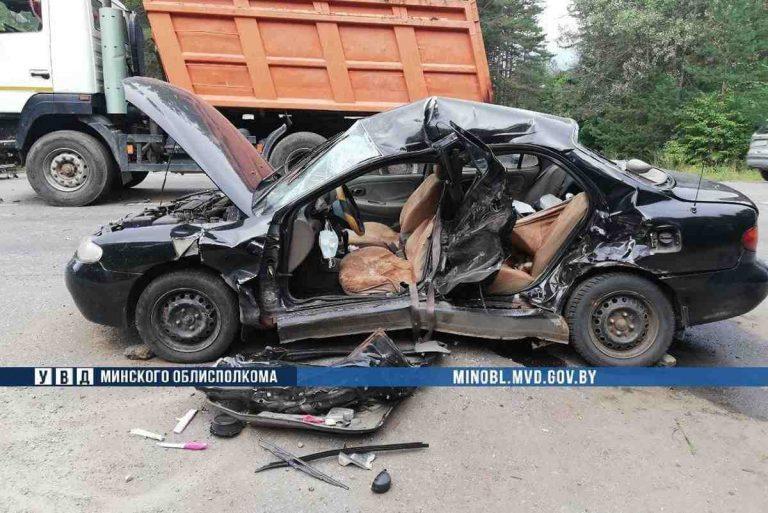 столкновение Hyundai и МАза