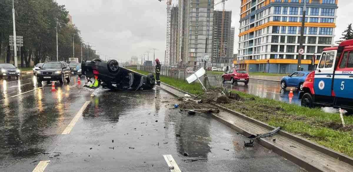 ДТП с опрокидыванием в Минске