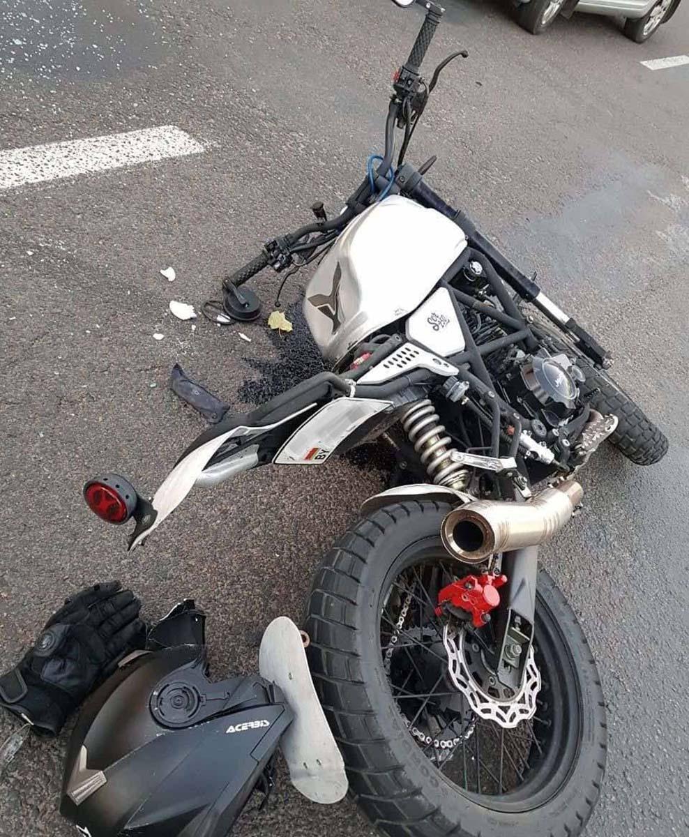 ДТП с мотоциклом на Казинца