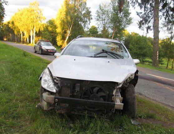 авария около деревни Блонь
